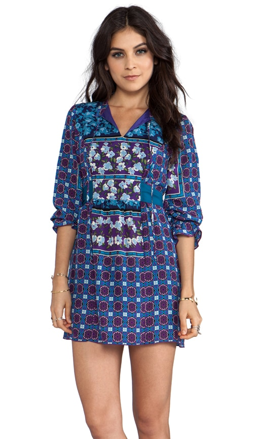 Scherazade Panel Print Crepe De Chine Dress