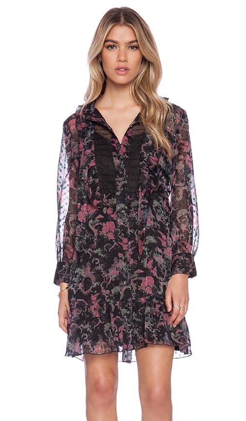 Rococco Pavillions Print Shirt Dress