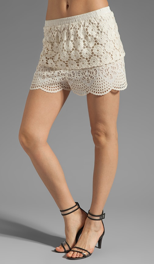 Bohemian Eyelet Embroidered Short