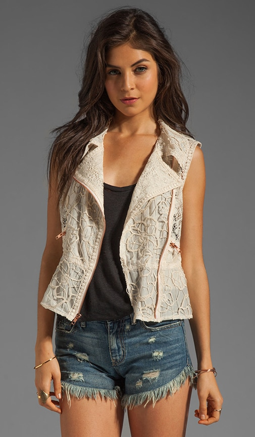 Mixed Lace Vest