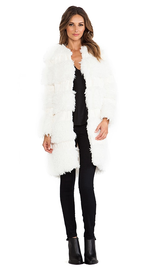 RUNWAY Mongolian Faux Fur Coat