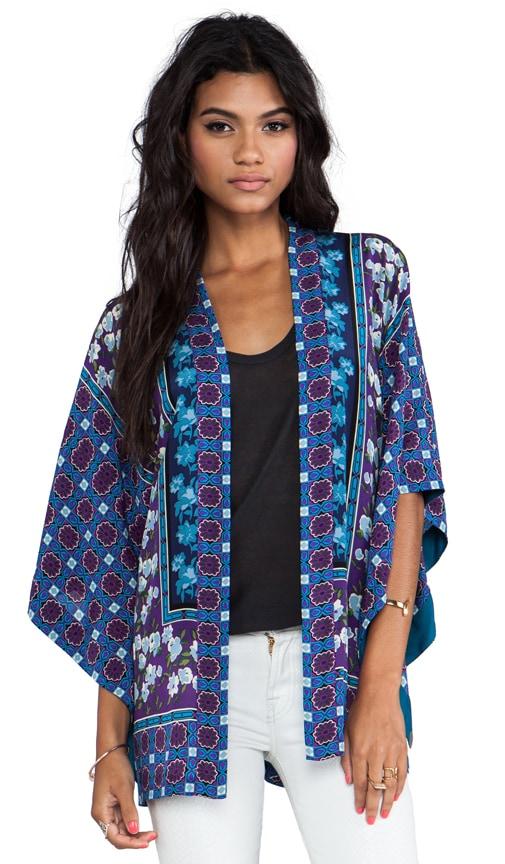 Scherazade Panel Print Crepe De Chine Kimono
