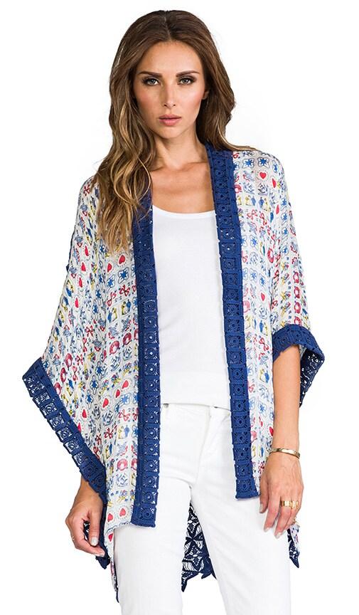 Icon Scarf Print Kimono