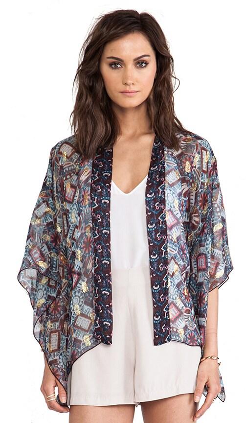 Warp Print Kimono