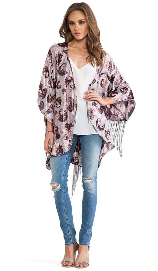 Moonlight Floral Print Kimono
