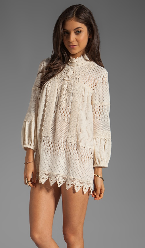 Pinwheel Mixed Lace Tunic
