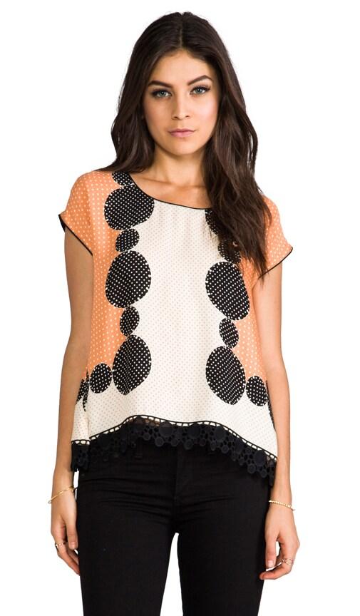 Mod Dots Lace Blouse