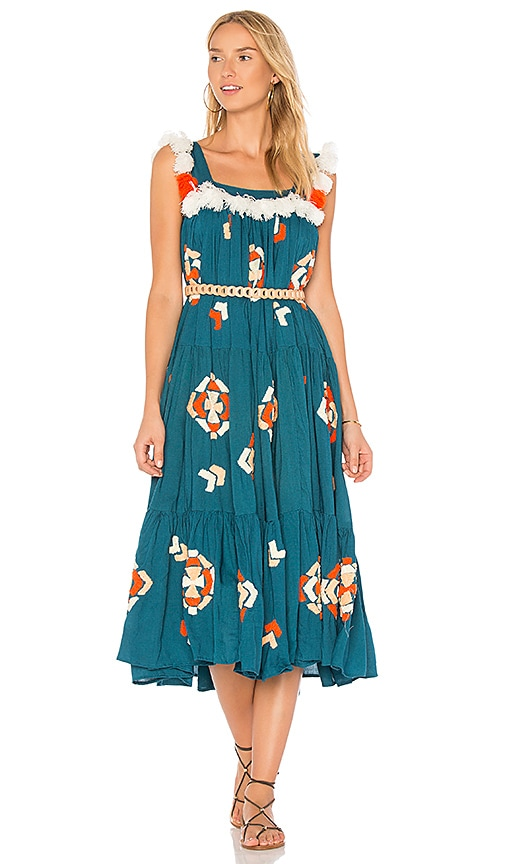 All Things Mochi The Tassa Dress in Teal
