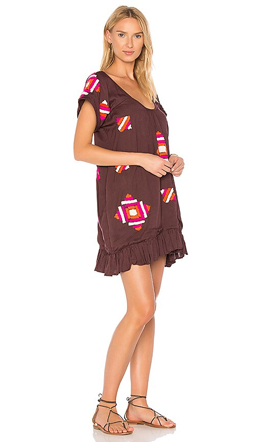 All Things Mochi Amaynu Dress in Burgundy