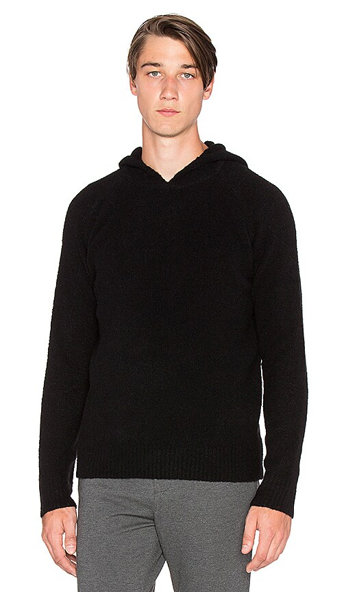 ATM Anthony Thomas Melillo Cozy Hooded Pullover in Black