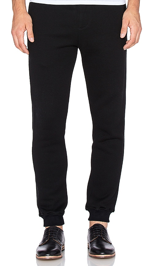 ATM Anthony Thomas Melillo French Terry Sweatpant in Black