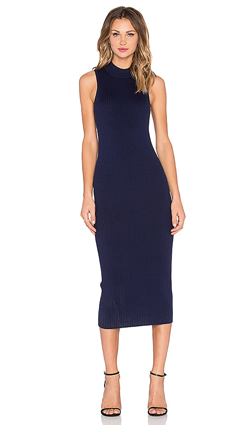 ATM Anthony Thomas Melillo Midi Rib Sweater Dress in Navy