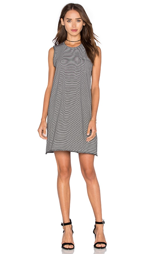 ATM Anthony Thomas Melillo Pocket Tank Dress in Black & White