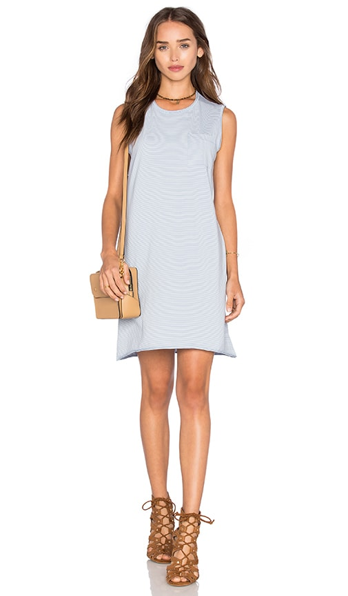 ATM Anthony Thomas Melillo Pocket Tank Dress in Baby Blue