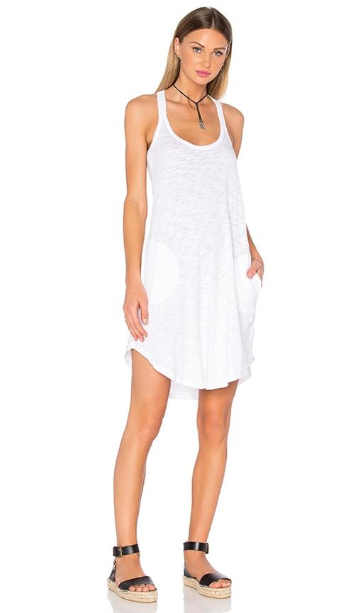 ATM Anthony Thomas Melillo Trapeze Tank Dress in White