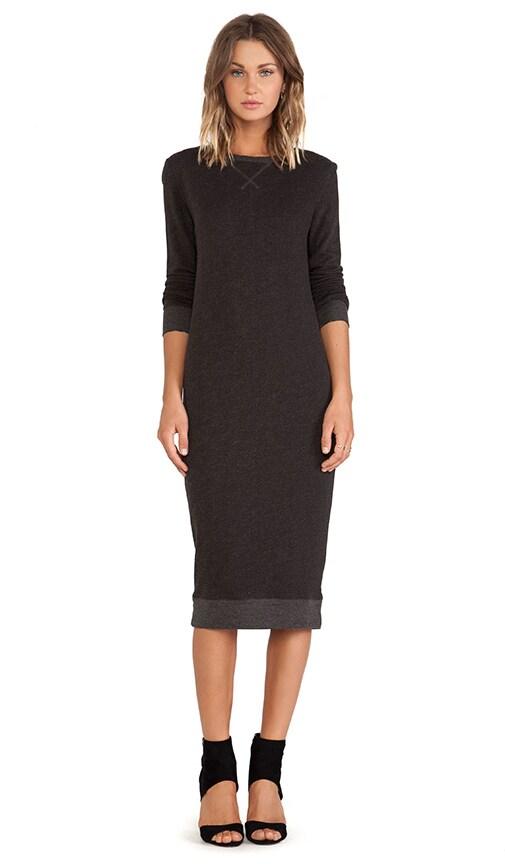 ATM Anthony Thomas Melillo Sweatshirt Long Dress in Charcoal Heather