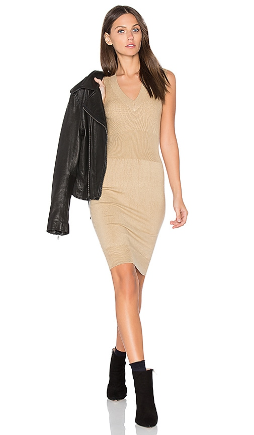 ATM Anthony Thomas Melillo Sleeveless Sweater Tank Dress in Beige