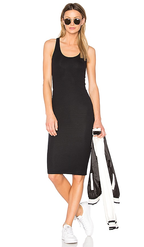 ATM Anthony Thomas Melillo Boy Rib Tank Dress in Black