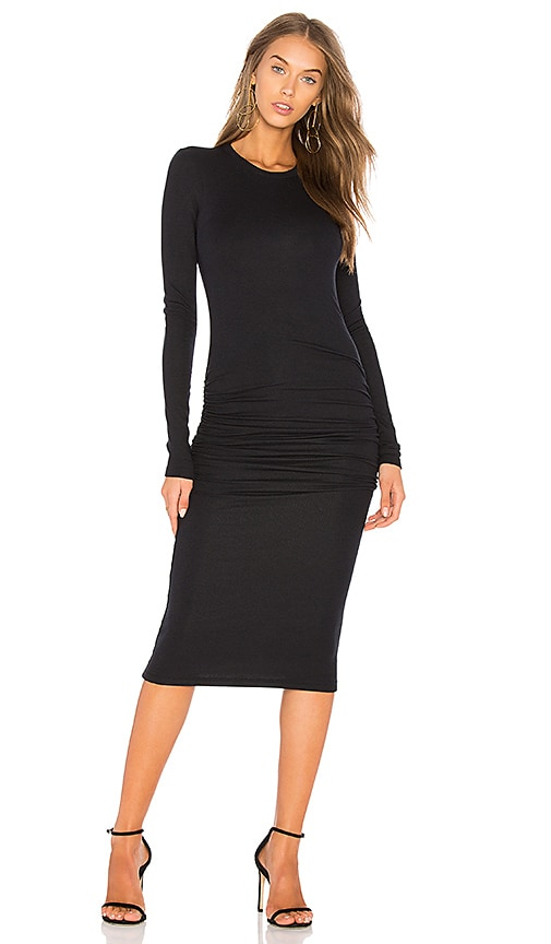 ATM Anthony Thomas Melillo Rib Knit Dress in Black