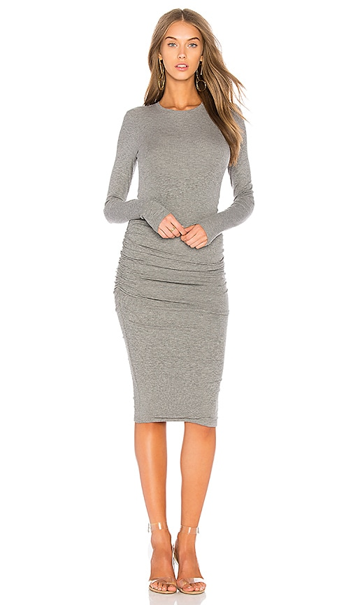 ATM Anthony Thomas Melillo Rib Knit Dress in Gray