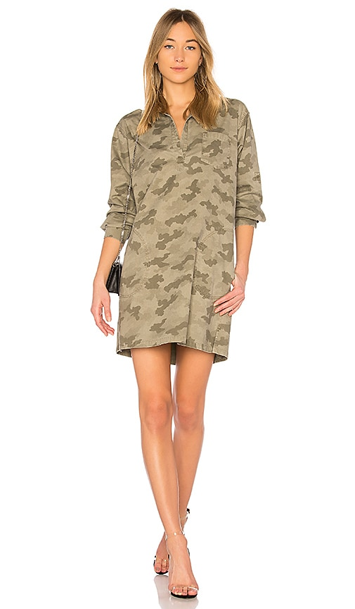 ATM Anthony Thomas Melillo Stretch Cotton Shirt Dress in Sage