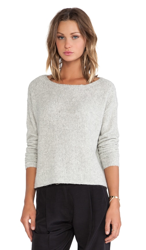 Boatneck Raw Edge Sweater