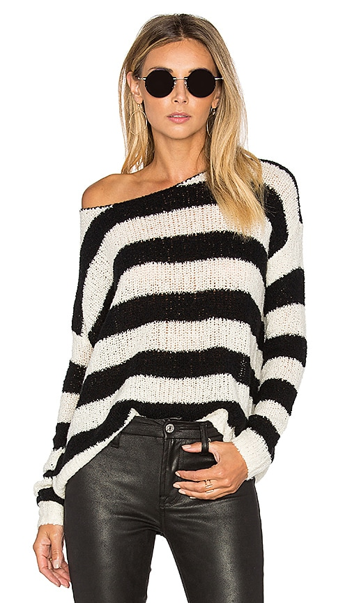 Boatneck Drop Shoulder Sweater