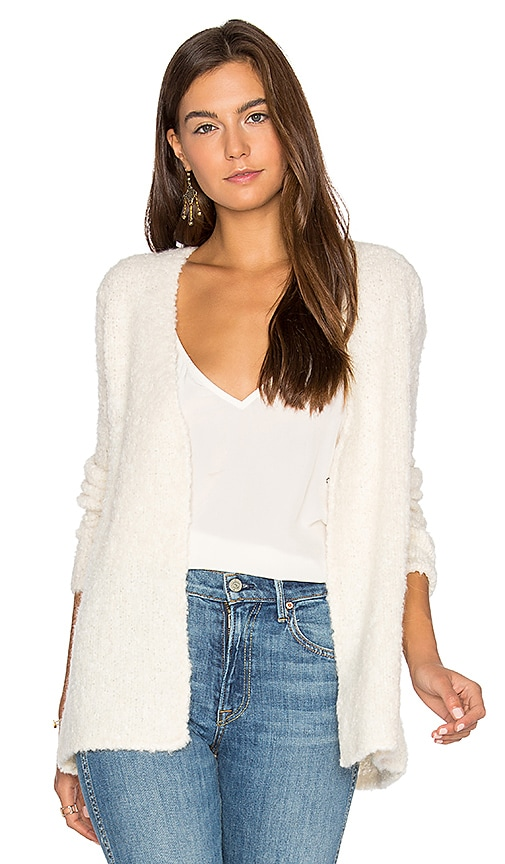 ATM Anthony Thomas Melillo Crochet Trimmed Cardigan in Ivory