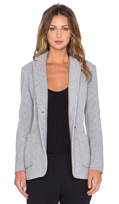 Wool Shearling Knit Blazer