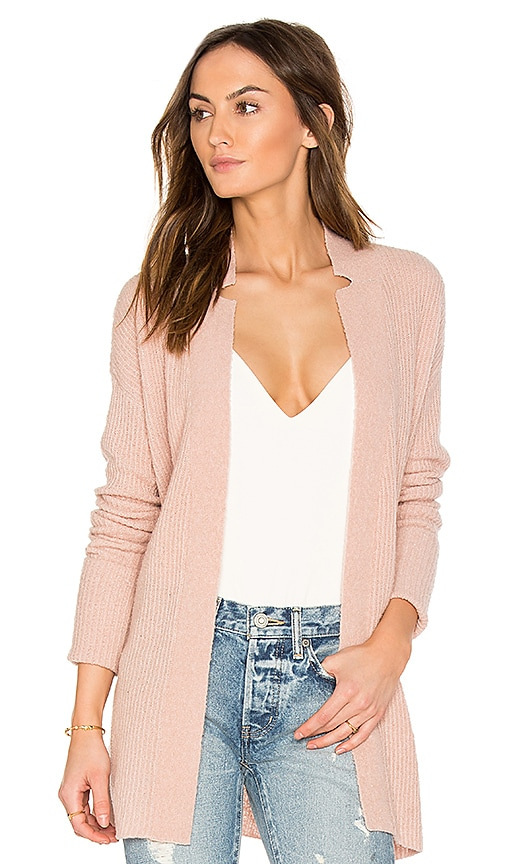ATM Anthony Thomas Melillo Belted Cardigan in Blush