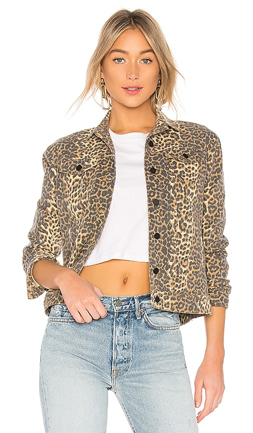ATM Anthony Thomas Melillo Leopard Print Denim Jacket in Leopard Print