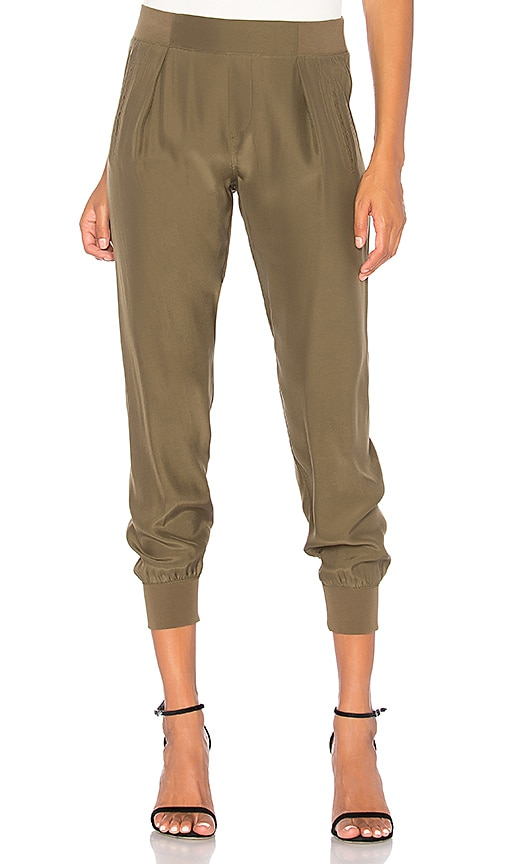ATM Anthony Thomas Melillo Silk Jogger in Olive