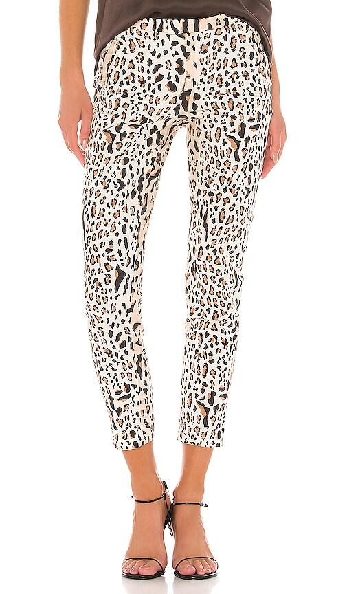 Leopard Print Cotton Slim Pant