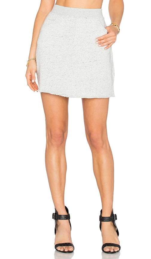 ATM Anthony Thomas Melillo Melange Terry Skirt in Gray