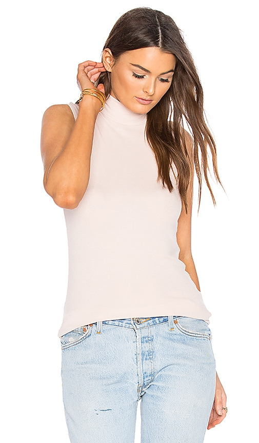 ATM Anthony Thomas Melillo Sleeveless Mock Neck Top in Pink