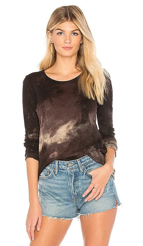 ATM Anthony Thomas Melillo Destroyed Wash Crew Top in Black