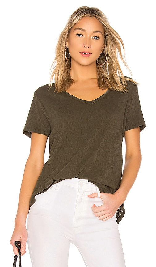 ATM Anthony Thomas Melillo Boyfriend Tee in Dark Green