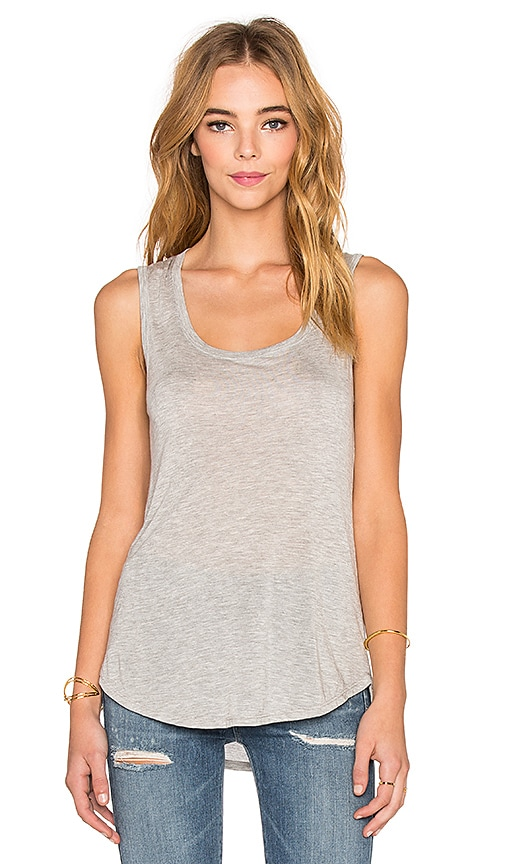 ATM Anthony Thomas Melillo Sweetheart Tank in Heather Grey