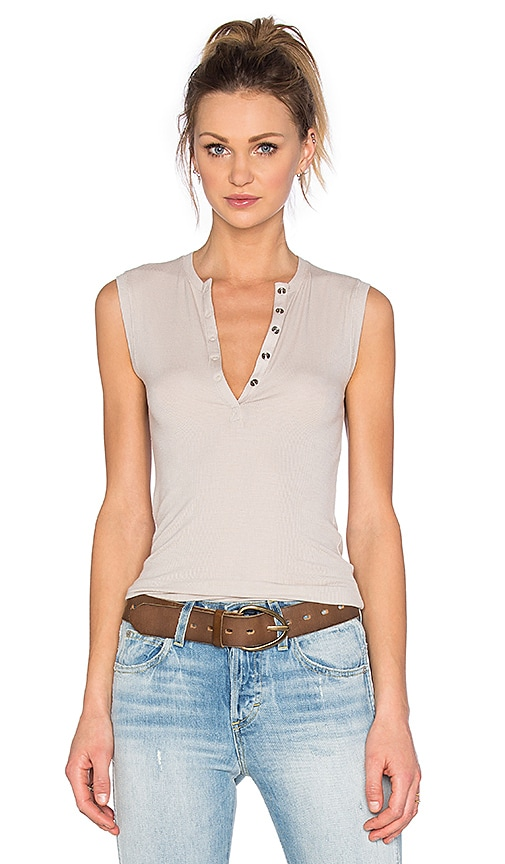 ATM Anthony Thomas Melillo Henley Tank in Light Gray
