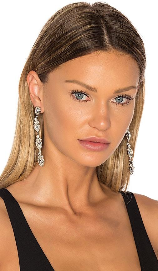 Auden Olivia Earrings in Metallic Silver