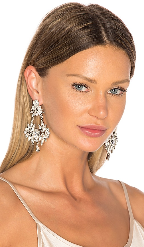 Auden Mia Earrings in Metallic Silver