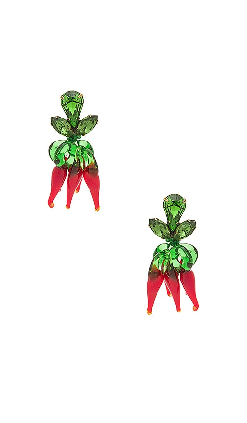 Auden Chilli Earrings in Red