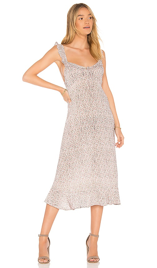 look out for 50% price detailed look AUGUSTE Daisy Love Midi Dress in Blush | REVOLVE