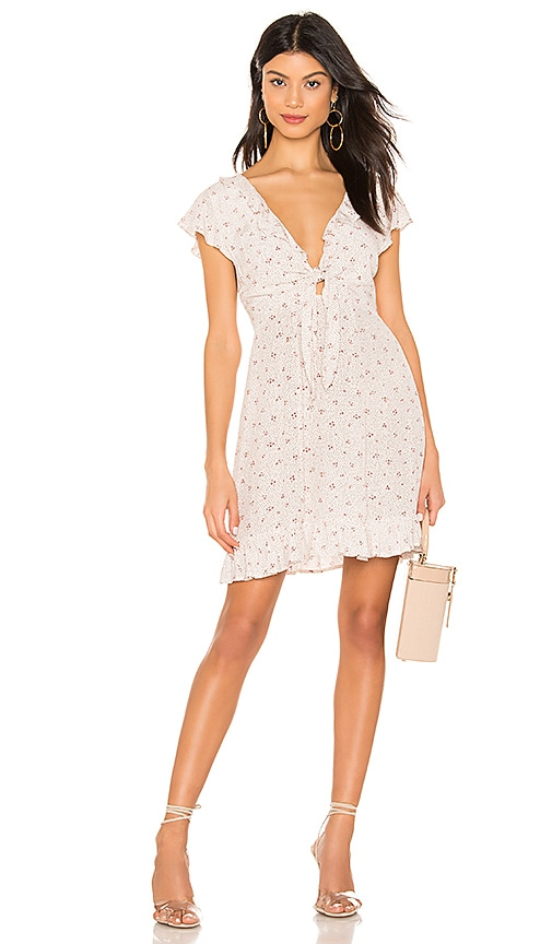X REVOLVE Jasmine Petal Cutaway Mini Dress