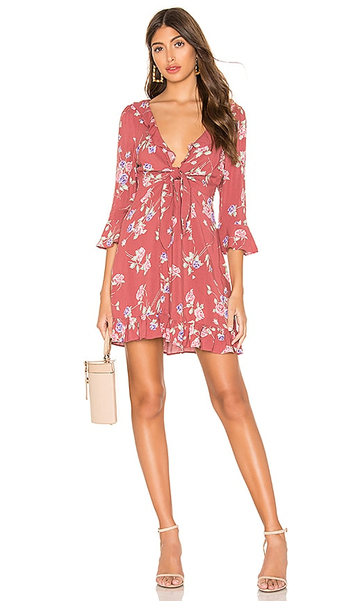 X REVOLVE Rosa Rumba Sleeved Mini Dress