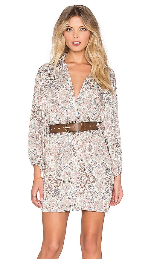 AUGUSTE Drifter Shirt Dress in Kaleidoscope Mocha