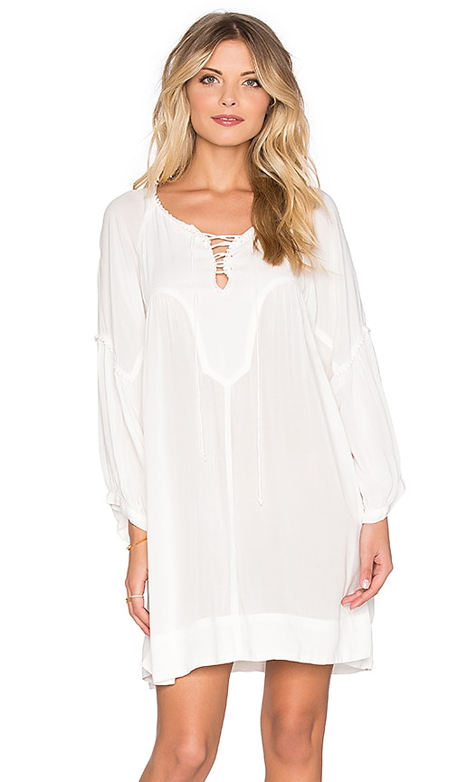 AUGUSTE Luxe Shift Dress in White