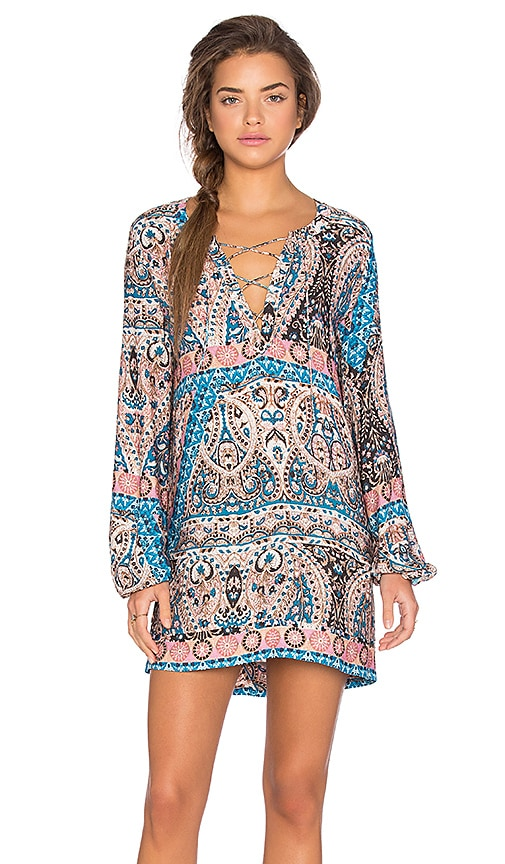 AUGUSTE Gypset Shift Dress in Blue