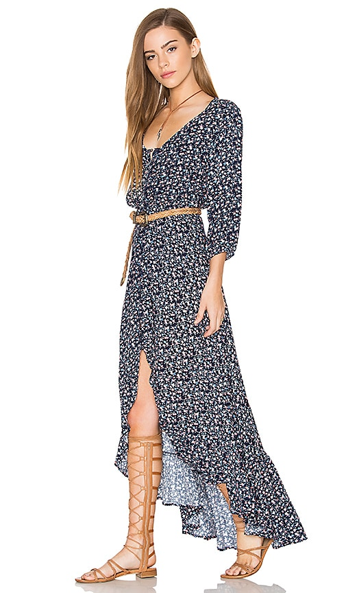 AUGUSTE All Things Good Maxi Dress in Navy