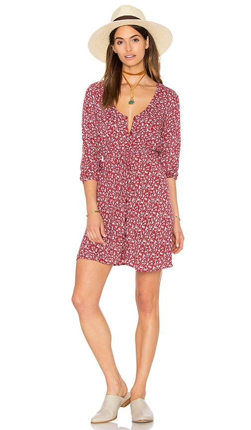 AUGUSTE All Things Good Play Dress in Burgundy